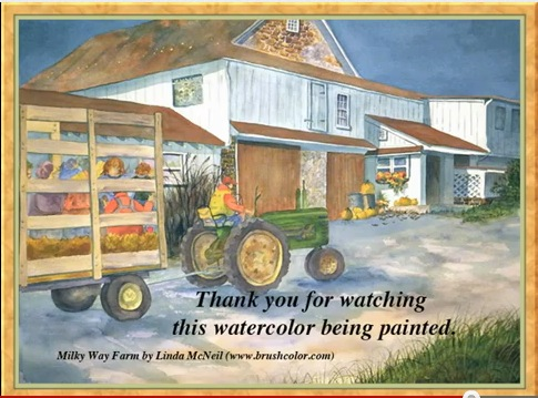 Painting of Linda McNeil's Milky Way Farm on YouTube
